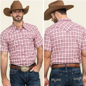 CODY JAMES NWOT Cookout Plaid Western Shirt Large